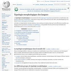 Typologie morphologique des langues