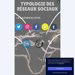 Typologie des réseaux sociaux by Nathalie Jetha on Genially