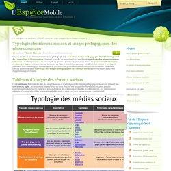 Typologie des réseaux sociaux et usages pédagogiques des réseaux sociaux