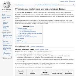 Typologie des routes pour leur conception en France