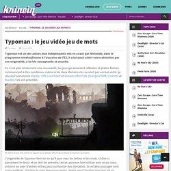 Typoman : le jeu vidéo jeu de mots