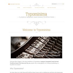 Typominima - WordPress theme