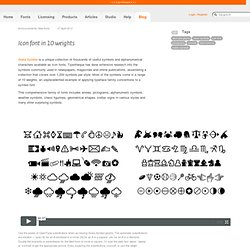 Icon font in 10 weights