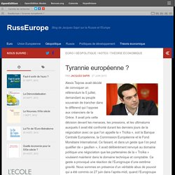 Tyrannie européenne