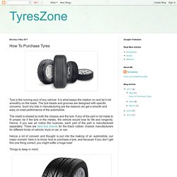 TyresZone: How To Purchase Tyres