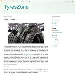 TyresZone: Types Of Tyres