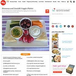 Hummus and Tzatziki Veggie Platter