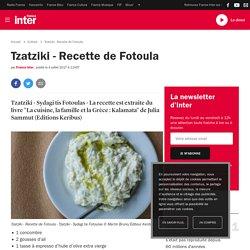 Tzatziki - Recette de Fotoula