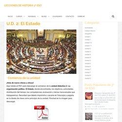 U.D. 2: El Estado – 3 ESO