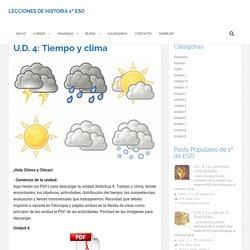 U.D. 4: Tiempo y clima – 1 ESO
