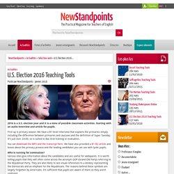 U.S. Election 2016 Teaching Tools