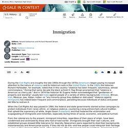 U.S. History - Document - Immigration
