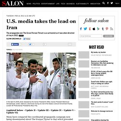 U.S. media takes the lead on Iran