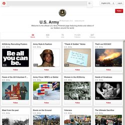 U.S. Army on Pinterest