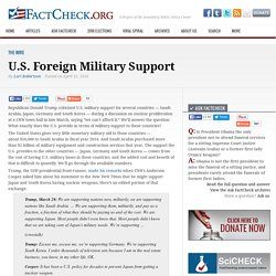 U.S. Foreign Military Support