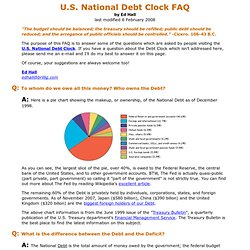 U.S. National Debt Clock FAQ