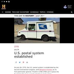 U.S. Postal System Established