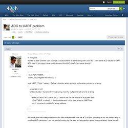 ADC to UART problem - Code vault