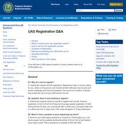 UAS Registration Q&A