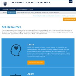 UBC SEL Resource Finder - SEL Resources