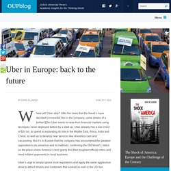 Uber in Europe: back to the future