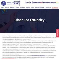Uber for Laundry App - Uber for Dry Cleaning Services