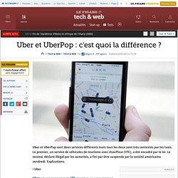 Uber et UberPop : c'est quoi la différence ?