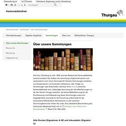 Kantonsbibliothek Thurgau - Sammlungen
