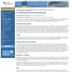 M 2.459 Überblick über Internet-Dienste