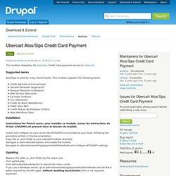 Ubercart Atos/Sips Credit Card payment