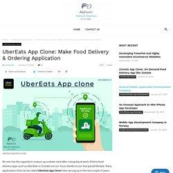 On Demand App Like UberEats