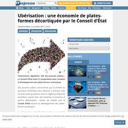 Ubérisation : une économie de plates-formes décortiquée par le Conseil d'État