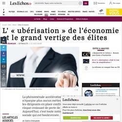 L' «ubérisation» de l'économie et le grand vertige des élites