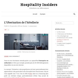 L'Uberisation de l'hôtellerie - Hospitality Insiders