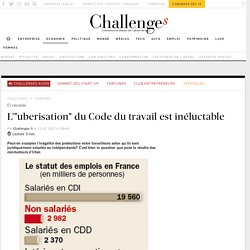 """Pourquoi l'"""" uberisation"""" du Code du travail est inéluctable - Challenges.fr"""