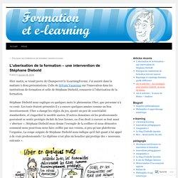 L'uberisation de la formation – une intervention de Stéphane Diebold