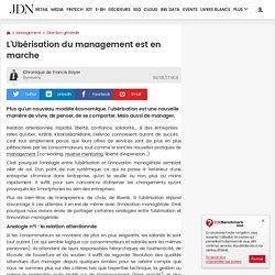 MANAGEMENT : L'Ubérisation du management est en marche