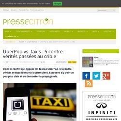 UberPop vs. taxis : 5 contre-vérités passées au crible