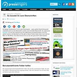 Dachzeile in Wordpress – einfach Über-Überschriften einrichten