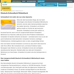 Deutsch-Schwedisch Wörterbuch - Übersetzung - Langenscheidt