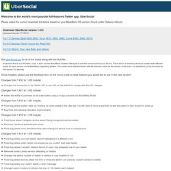 ÜberTwitter advanced Twitter client developed especially for BlackBerry devices