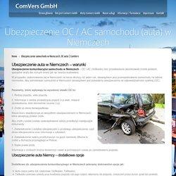 Ubezpieczenie auta w Niemczech