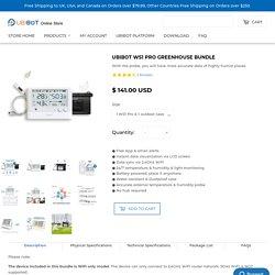 UbiBot WS1 Pro Greenhouse Bundle - UbiBot Online Store