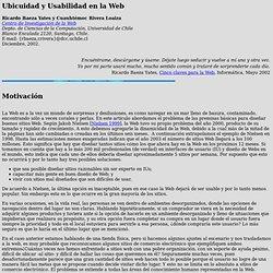 Ubicuidad y Usabilidad en la Web