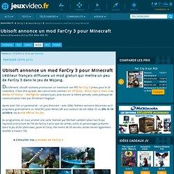 Ubisoft annonce un mod FarCry 3 pour Minecraft