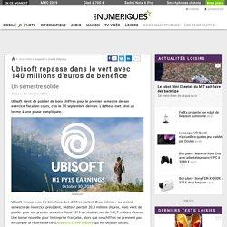 Ubisoft repasse dans le vert avec 140 millions d'euros de bénéfice