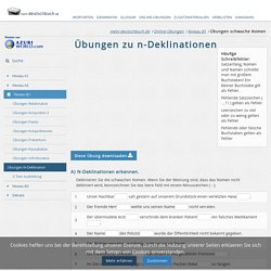 Schwache Nomen - Ü mein-deutschbuch.de