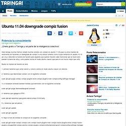 Ubuntu 11.04 Efectos de Compiz , fuego , airplane, etc