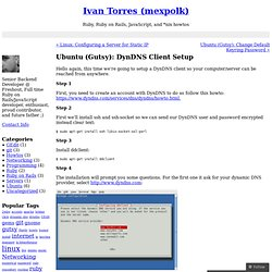 Ubuntu (Gutsy): DynDNS Client Setup « Ivan Torres (mexpolk)