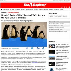 Ubuntu? Fedora? Mint? Debian? We'll find you the right Linux to swallow